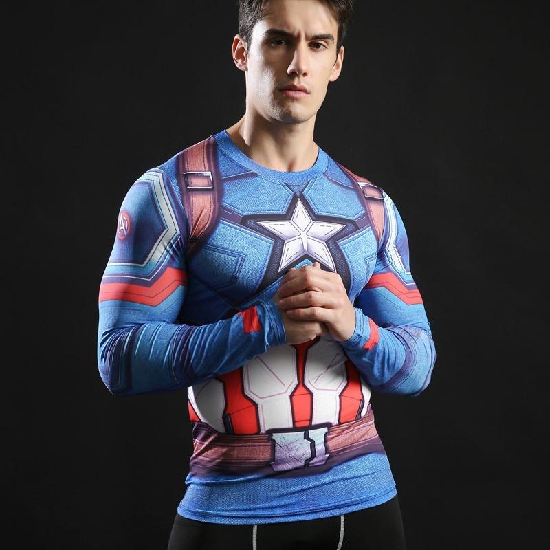 camiseta compressao capitao america vingadores marvel 3d uv. Carregando  zoom. 941354942c078