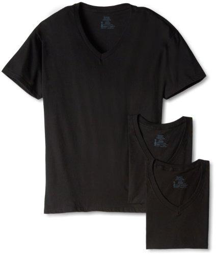 camiseta con cuello en v hanes ultimate para hombre de 3 par
