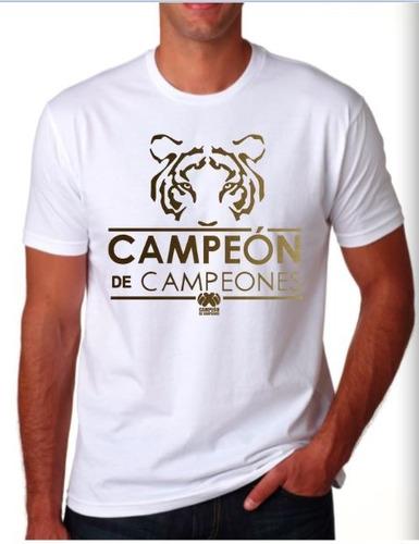 camiseta conmemorativa estampada tigres campeón de campeones