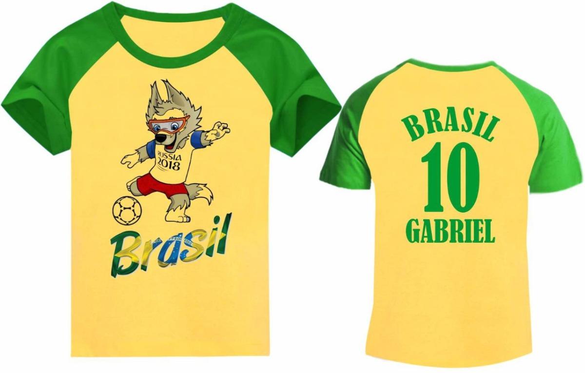 52bec6195 camiseta copa do mundo 2018 rússia - mascote. Carregando zoom.