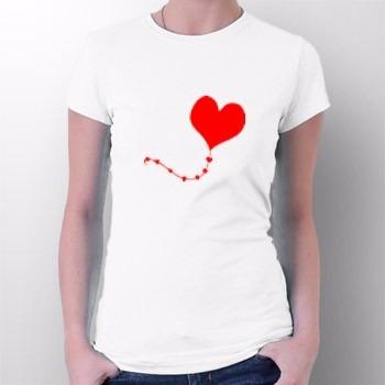 camiseta coração voando - amor - envio para todo brasil