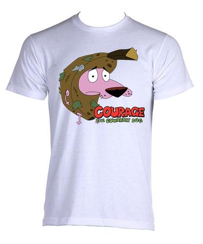 camiseta coragem um cão covarde cartoon -do p ao gg - mod 13