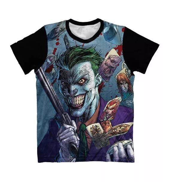 1f7e85d2a0e2f Camiseta Coringa Armado Jocker Full 3d Camisa Estampada - R  59,90 ...