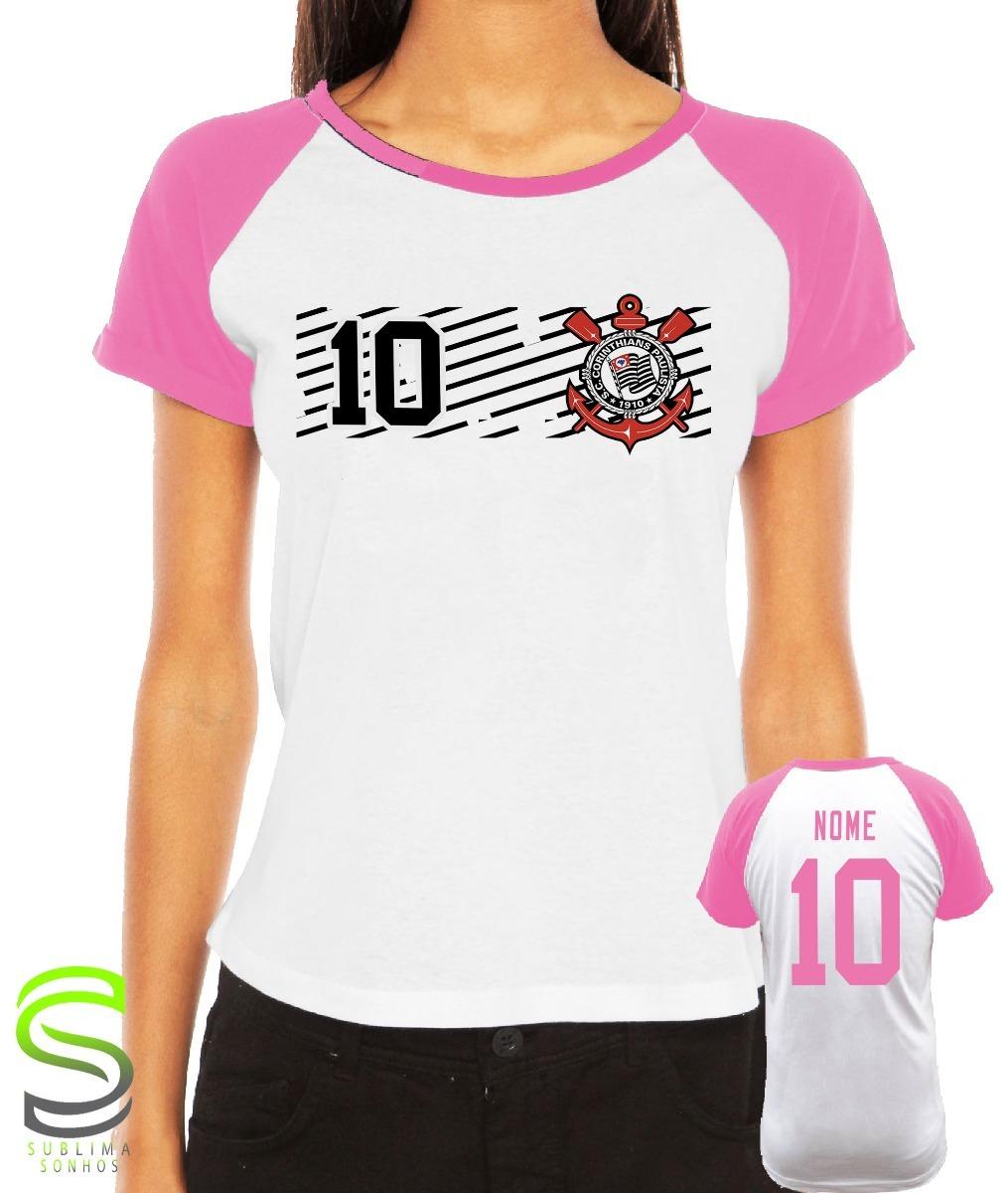 camiseta corinthians feminina personalizada rosa. Carregando zoom. 8cfd64999b01e