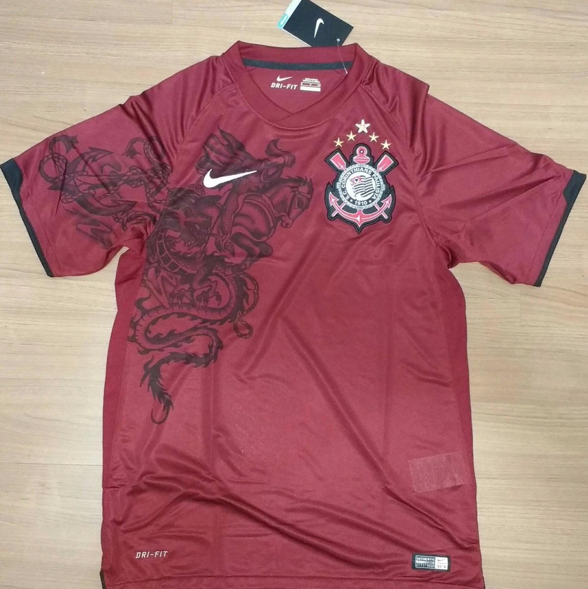 camiseta corinthians grená campeão 2011 100% nike orig - 72. Carregando zoom . 9bdedef960fb1