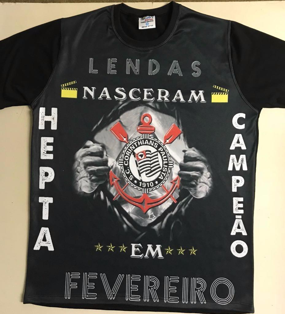 Camiseta Corinthians Hepta Campeao Nascido Em Novembro 734e927e1f445