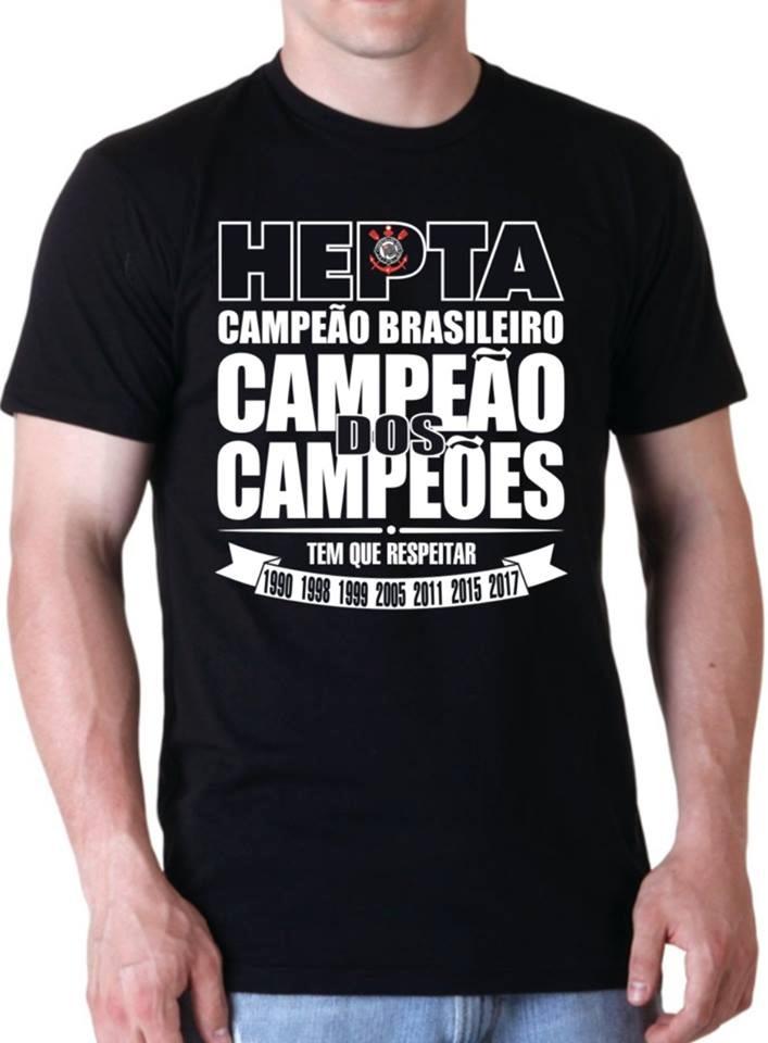 camiseta corinthians hepta campeão brasileiro. Carregando zoom. 4edb560ddb307