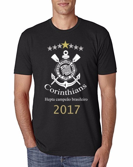 de92a108f5 Camiseta Corinthians Heptacampeão Brasileiro 2017 - R  89