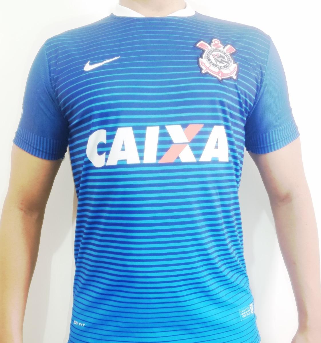 0954bb9f5 camiseta corinthians listrada azul modelo 2016 frete gratis. Carregando zoom .
