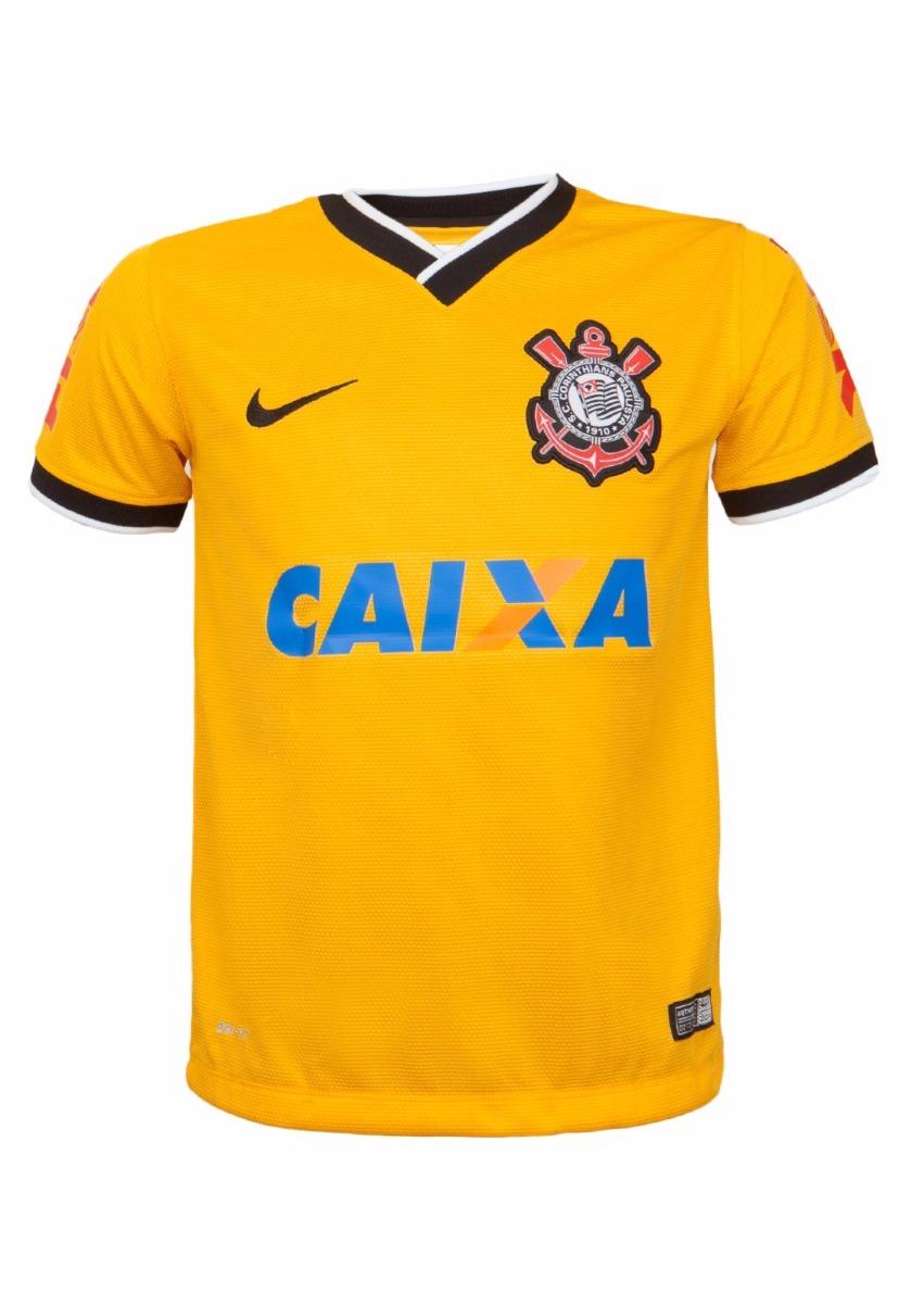 b680ed00ff camiseta corinthians nike brasil amarela + nf. Carregando zoom.