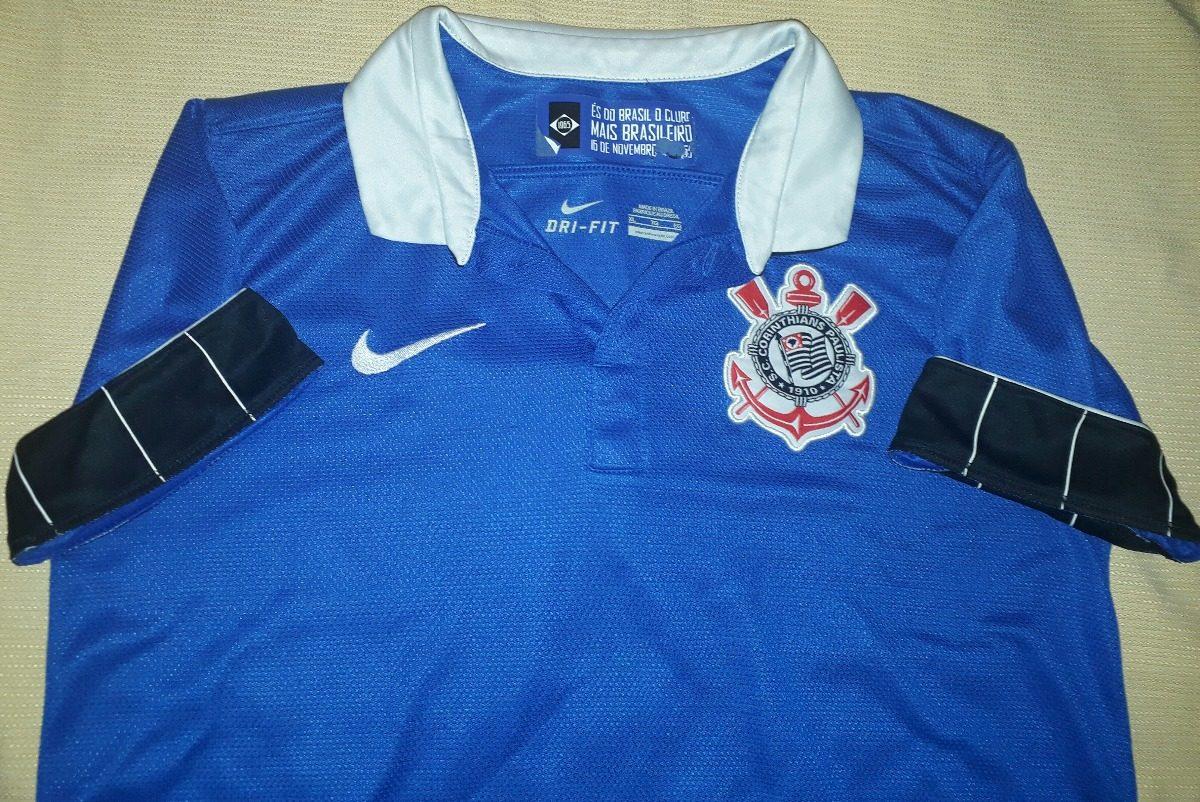 Camiseta Corinthians Nike Original Azul 2013   2014 - 58 - R  149 8f222753c4beb