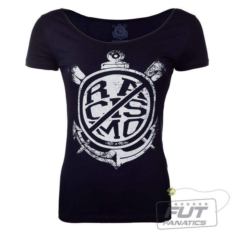 a34c6c3251 camiseta corinthians racismo não feminino - futfanatics. Carregando zoom.