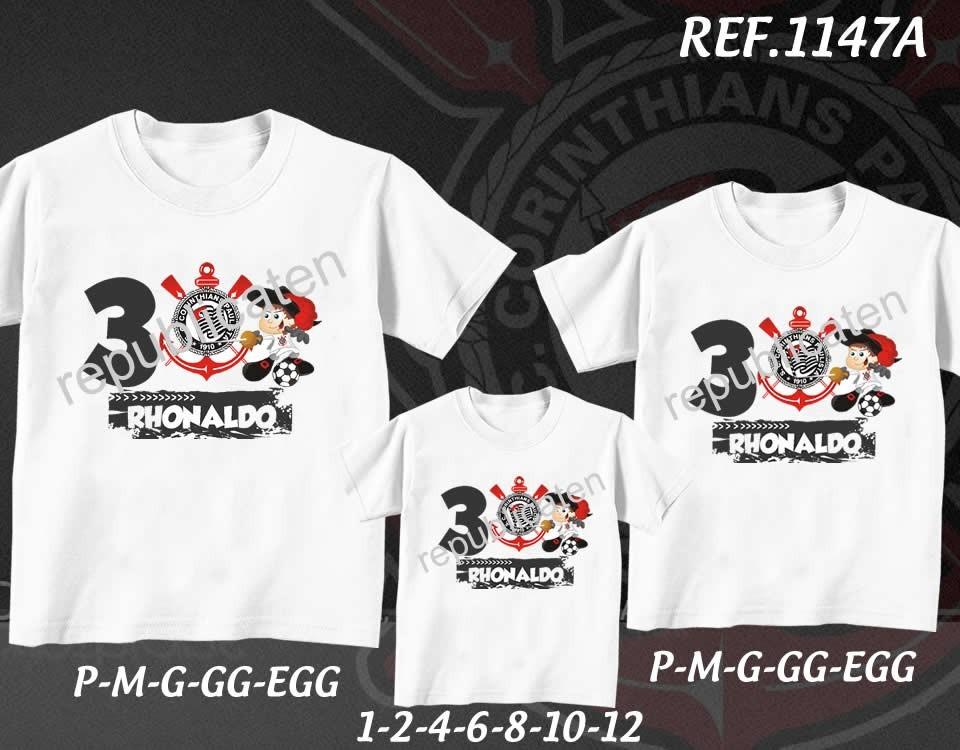 394aee80c7 camiseta corinthians time futebol aniversario kit com 3 unid. Carregando  zoom.