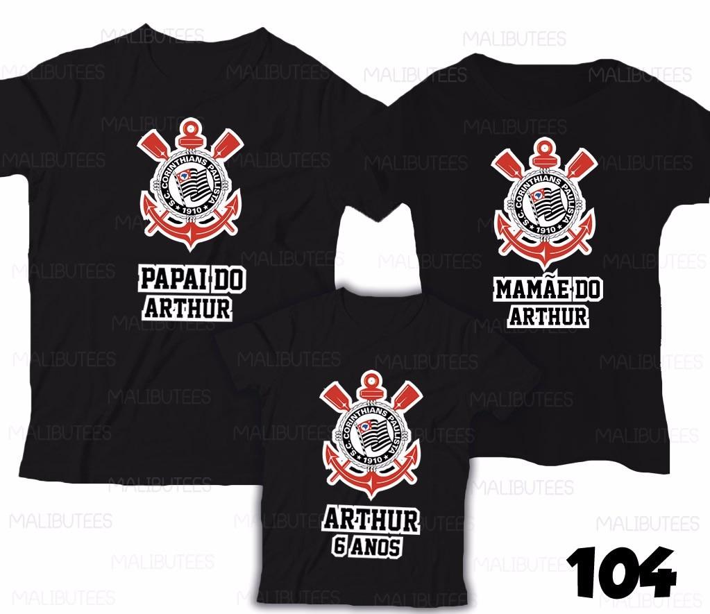 camiseta corinthians time personalizada aniversário kit c  3. Carregando  zoom. 6423bb6e50d6b