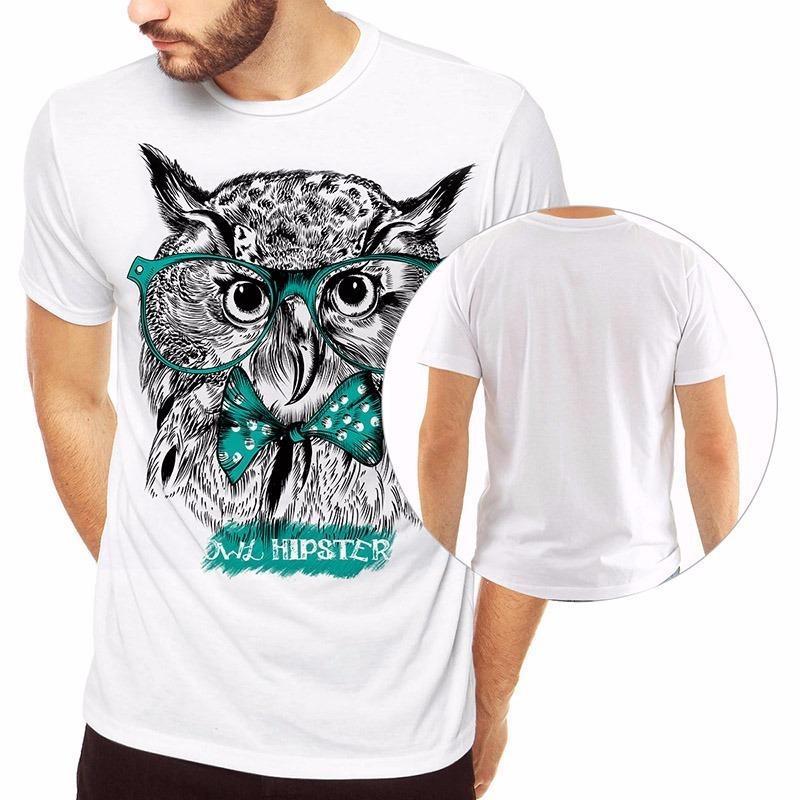 f359caea1 camiseta coruja owl hipster da moda camisas diferentes top. Carregando zoom.