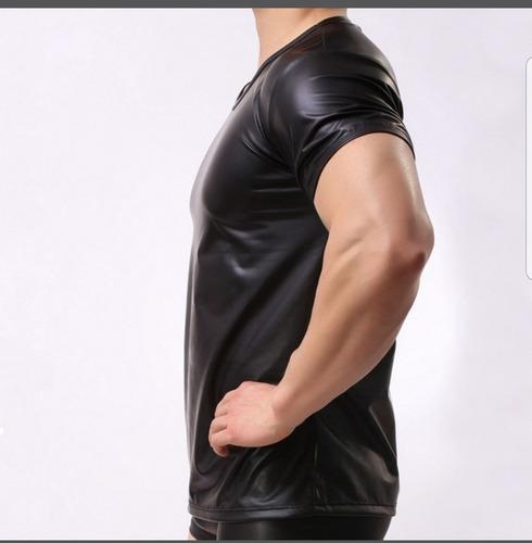 camiseta couro cirrê slim stecchi lançamento