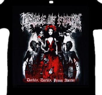 camiseta cradle of filth - darkly, darkly, venus aversa