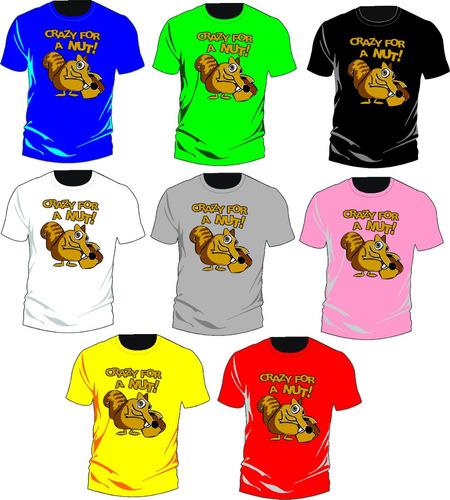 camiseta crazy for a nut