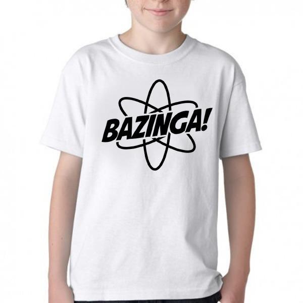 Camiseta Criança Blusa Infantil Bazinga Átomo Big Bang Theor - R  30 ... ffbe5aa698e