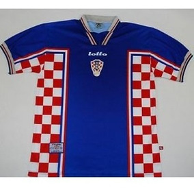 Retro Croacia Ho Camiseta Suplente 1998 clKJ1uTF3