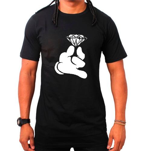 camiseta crooks and castle mickey hands diamond canguru dope