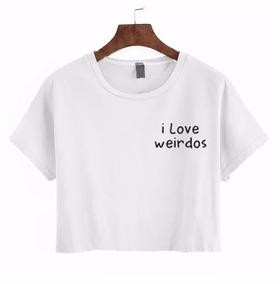 84c78272dc Blusa Cropped I Love My Boyfriend Forever21 Manga Longa - Camisetas ...