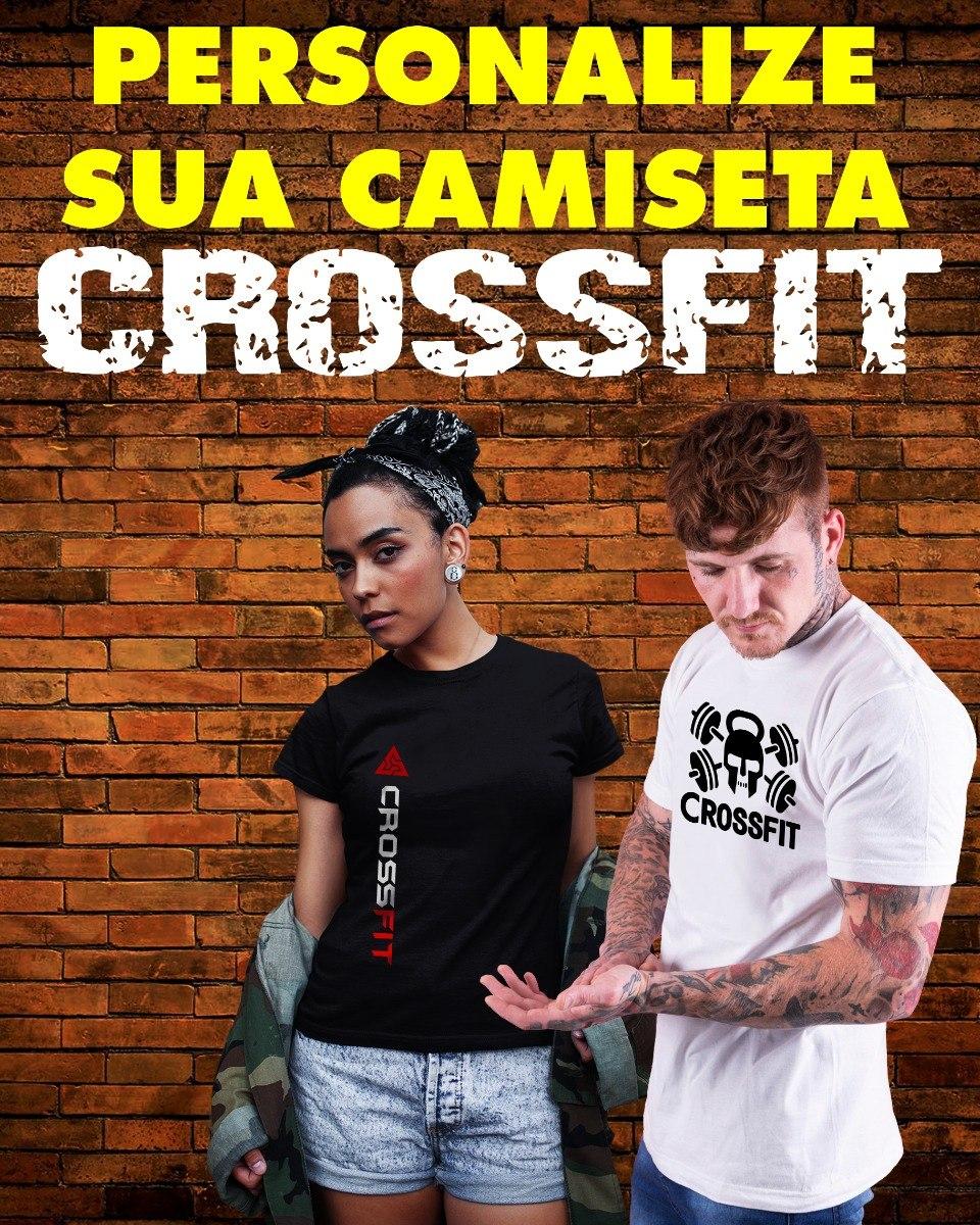 retro busca lo último correr zapatos Camiseta Crossfit - Personalizada Com Sua Logomarca
