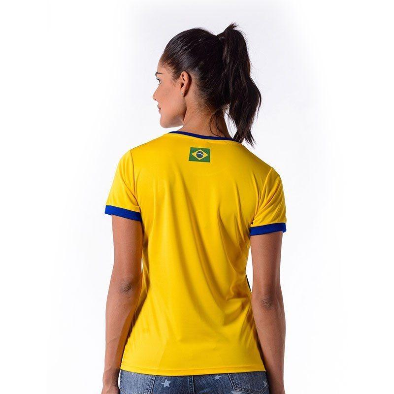 11e985798a camiseta cruzeiro brasil feminina amarela. Carregando zoom.