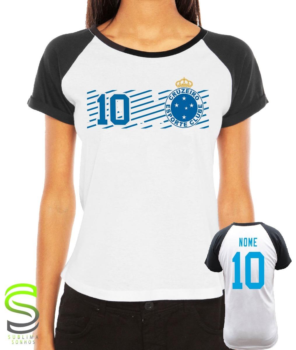 c4b090aaa8 camiseta cruzeiro feminina personalizada. Carregando zoom.