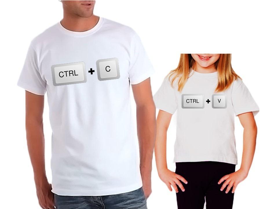 4ef8c1b2a camiseta ctrl c ctrl v tal mãe pai tal filho filha familia. Carregando zoom.