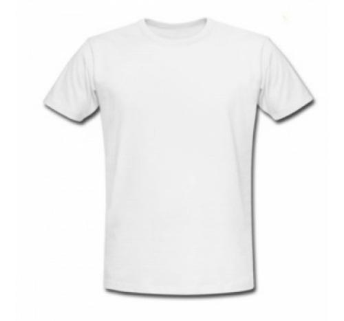 camiseta cuello económica redondo blanca  ps