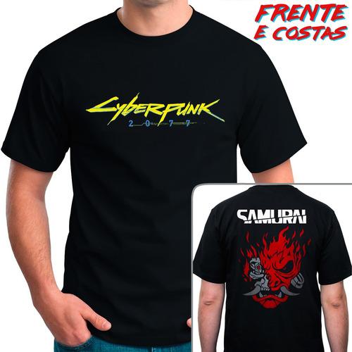 camiseta cyberpunk 2077 - samurai - camisa jogo
