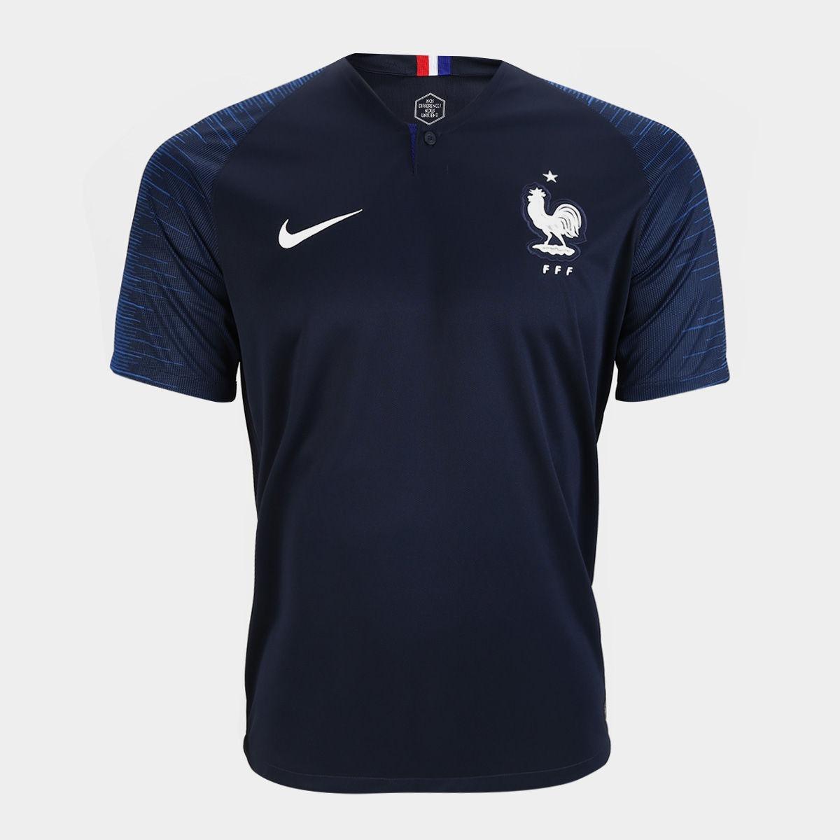 Camiseta Da França Nike Lançamento Copa 2018 Mega Barato!! - R  150 ... a0b70a6e74534