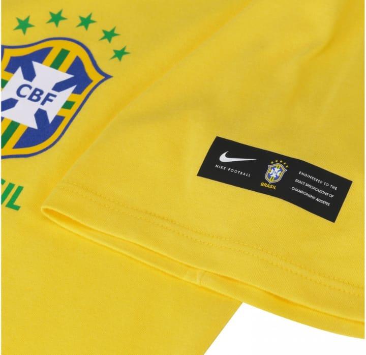 Camiseta Da Seleção Brasileira 2018 Crest Nike - Masculina - R  139 ... 5f0f5cc993627