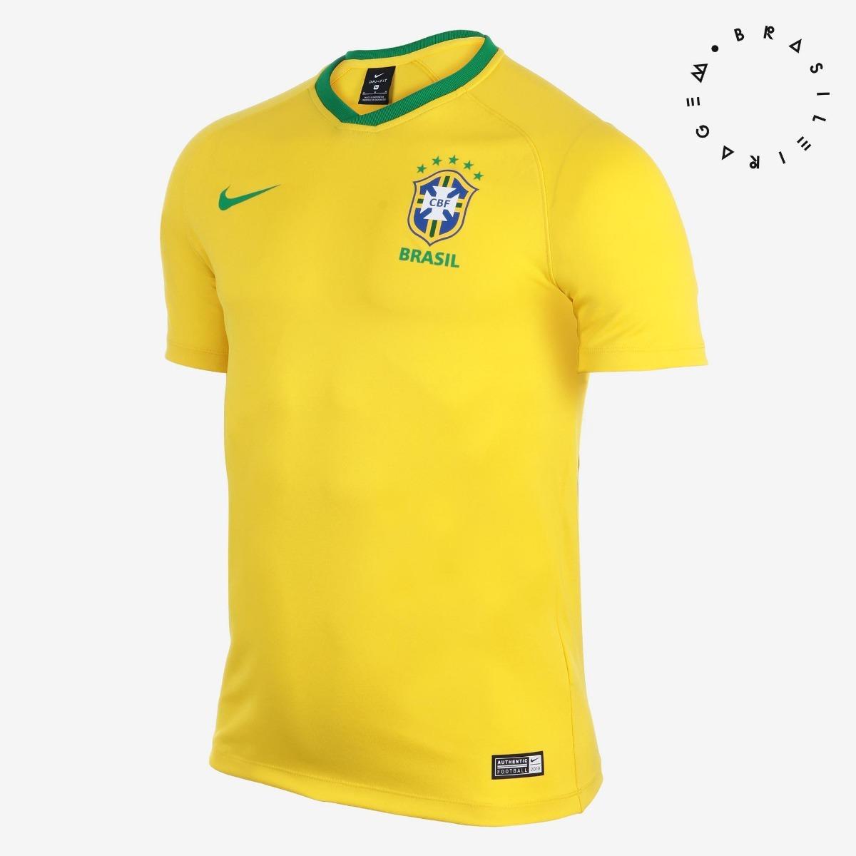 def543b0fe camiseta da seleção brasileira 2018 crest nike - masculina. Carregando zoom.