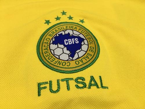 camiseta dalponte seleção brasileira futsal oficial tam g