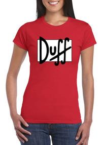 Diseño Algodón Personalizado Estampado Camiseta Duff Dama NnOPkw08ZX