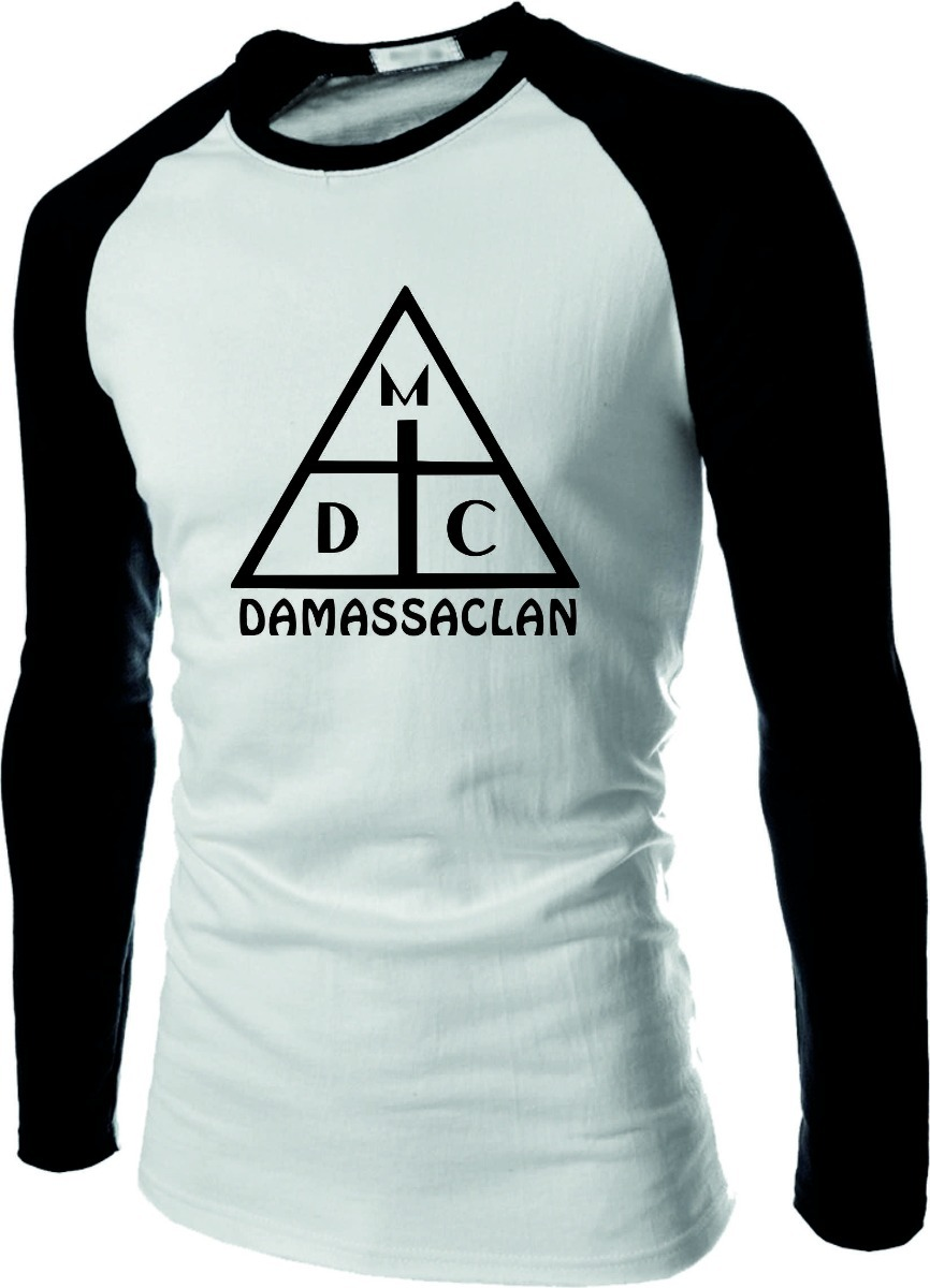 Camiseta Damassaclan Ralgna Longa Rap Dmc Raglan Top Camisa - R  37 ... b92923c8253