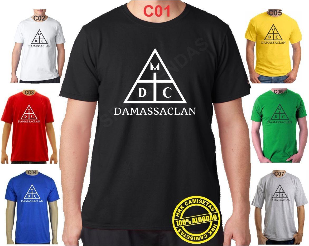 Camiseta Damassaclan Rap Hip-hop Baby Look Várias Cores 100% - R  33 ... 7d416e05138