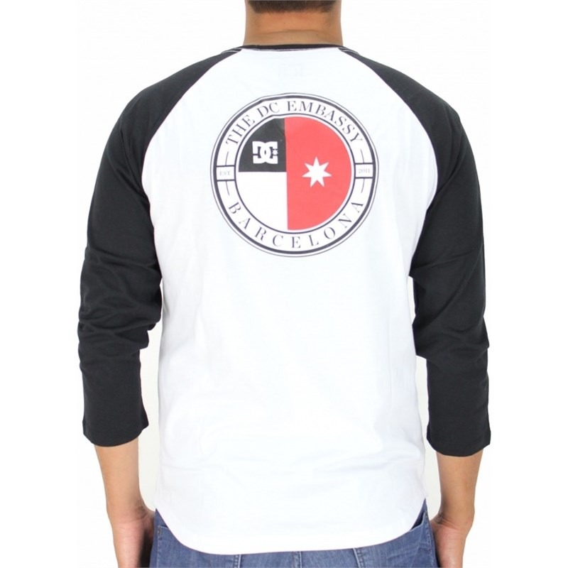 camiseta dc shoes core raglan manga longa branca. Carregando zoom. 1137810e27741