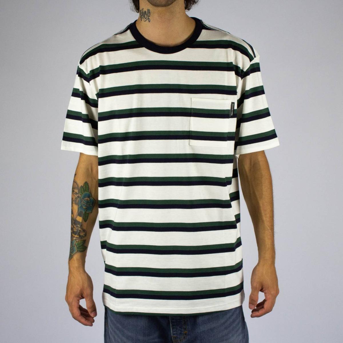 ba85900b9a8ff Camiseta Dc Shoes Oakride Branca Listrada - R$ 169,00 em Mercado Livre