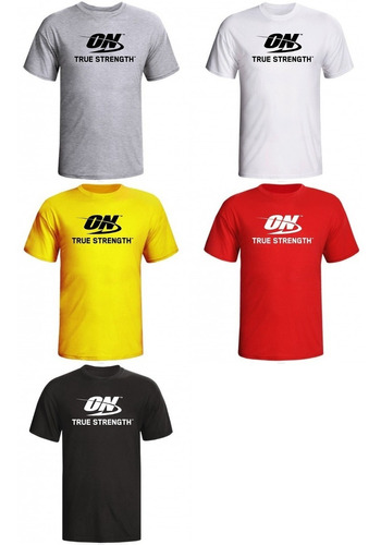 camiseta de academia on optimum nutrition