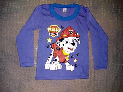 camiseta de algodon para nene talle 4 y 2