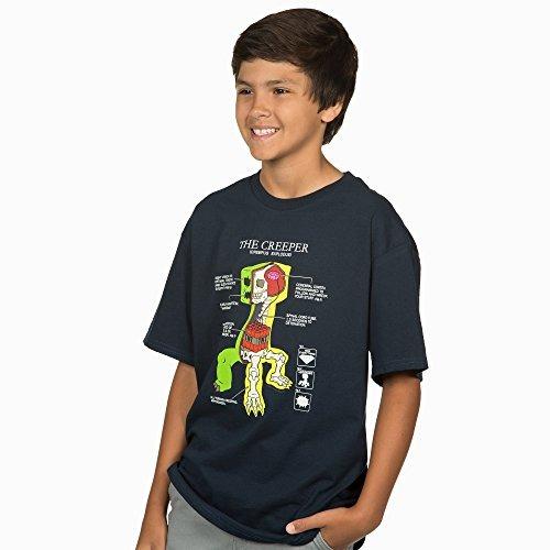 Camiseta De Anatomía Enredadera Minecraft Big Boys` (azul ...