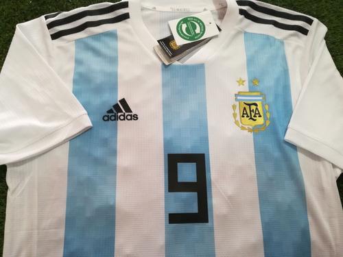camiseta de argentina mundial personalizada climachill