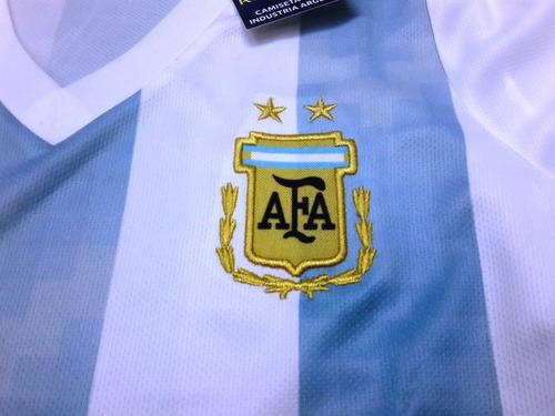 camiseta de argentina para dama entallada