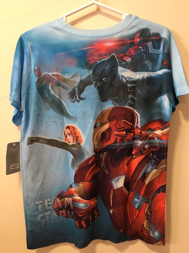 camiseta de avengers talla 10/12 de niño original disney