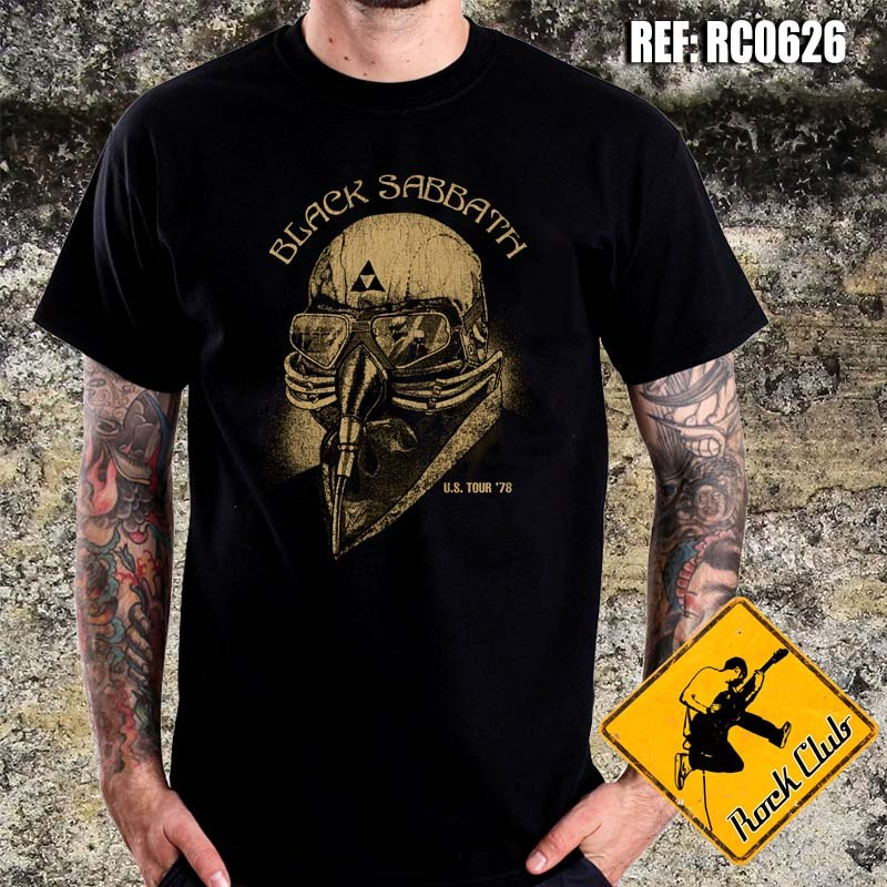 927fcbc9dbe8a Camiseta De Banda - Black Sabbath - Us Tour 1978 - Rc0626 - R  38