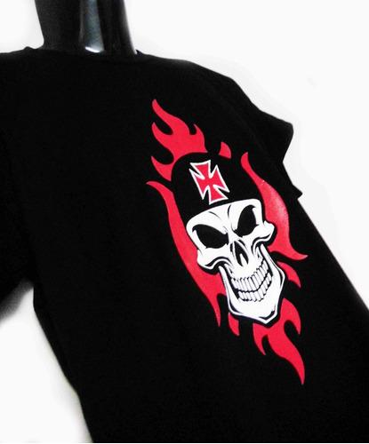 camiseta de calavera con cruz de hierro excelente skpalace
