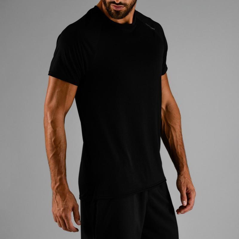5b3f3fed9aeb2d camiseta de cardio fitness hombre fts 100 h negra domyos. Cargando zoom.